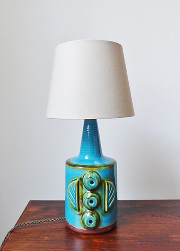 Large turquoise table lamp by Søholm