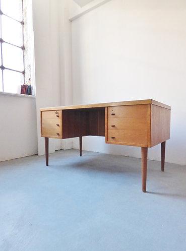 Large mid-century Danish oak desk