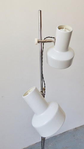 1970s Danish white standard lamp