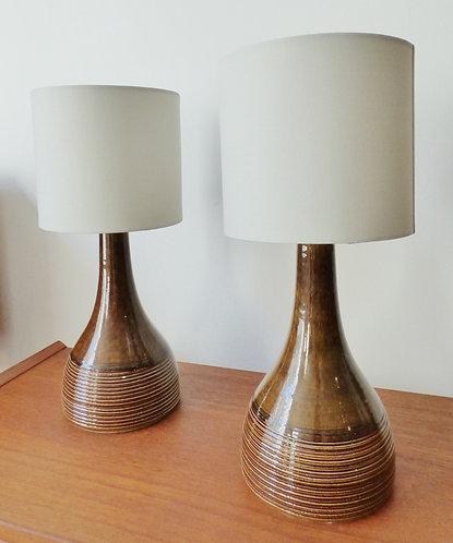 Pair of 1970s Danish ceramic table lamps
