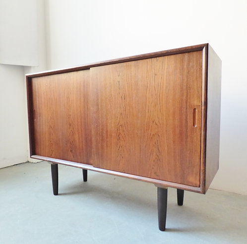 1960s Danish rosewood sideboard with sliding doors