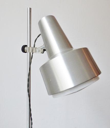 1960s Danish aluminium standard lamp