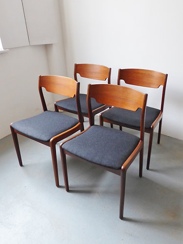 Set of 4 Danish dining chairs - 1960s