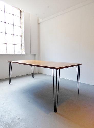 Vintage industrial teak dining table