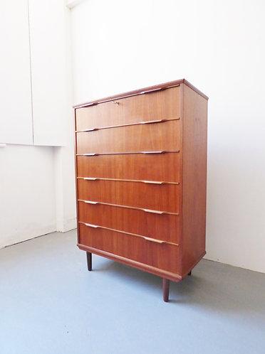 1960s Danish chest of drawers