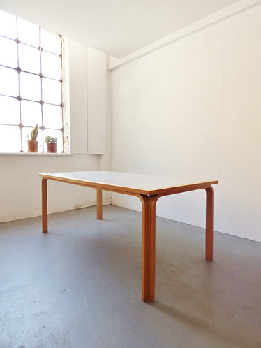 Large 1980s dining table by Magnus Olesen