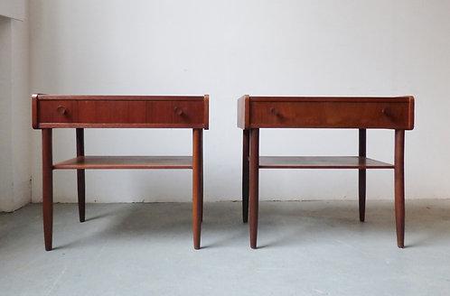 Pair of mid-century Danish teak side tables