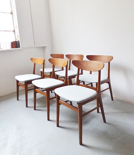 Set of six Danish dining chairs by Farstrup