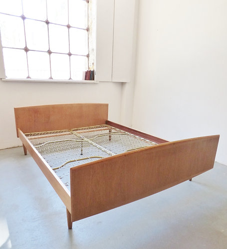 1960s Danish oak double bed