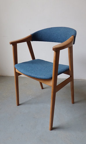 1960s Danish beech desk chair by Sax