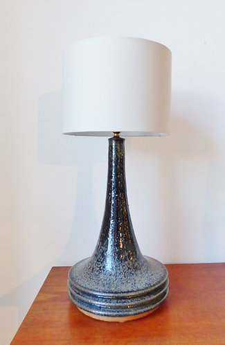 Large 1960s Danish ceramic table lamp