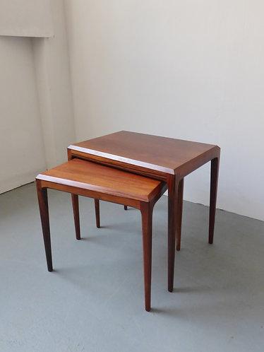 Johannes Andersen rosewood nesting tables