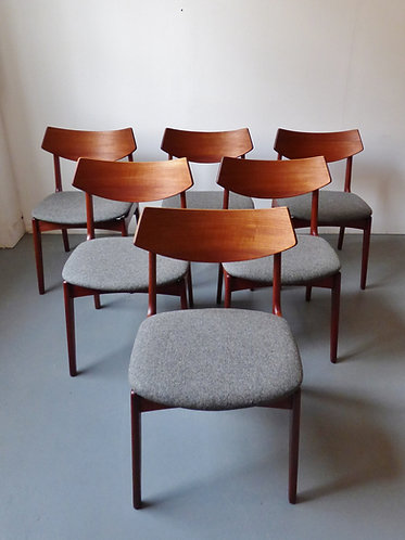 Danish dining chairs by Funder-Schmidt & Madsen - set of 6