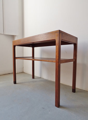 1960s Danish teak console table with shelf