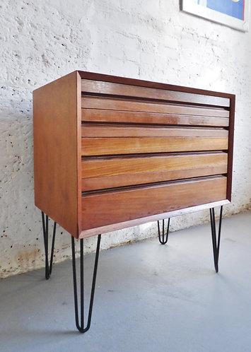 Mid-century Danish chest of 4 drawers