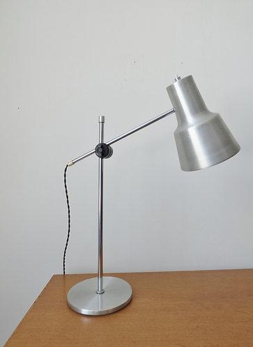 1970s Danish aluminium desk lamp