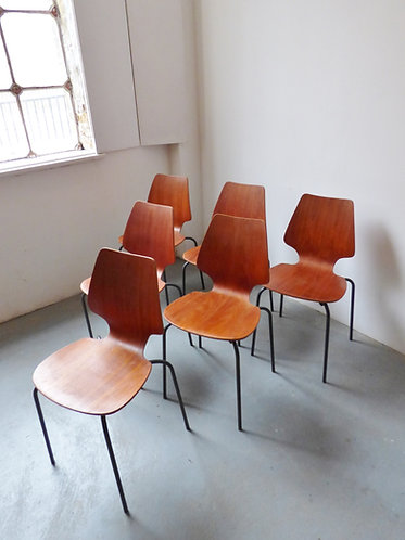 Mid-century Danish vintage industrial dining chairs