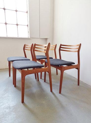 Set of 4 Danish dining chairs by Farsø Stolefabrik 1960s