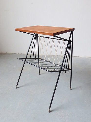 1950s Danish magazine rack / side table