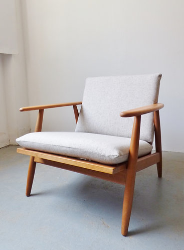1950s Danish beech lounge chair