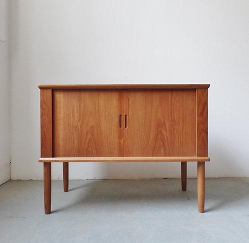 Small 1960s Danish teak tambour sideboard