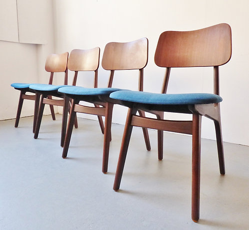 Danish dining chairs by Arne Hovmand-Olsen