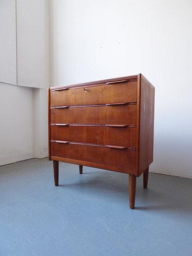 Mid-century Danish teak chest of 4 drawers