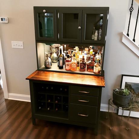 Hoosier Cabinet Dry Bar
