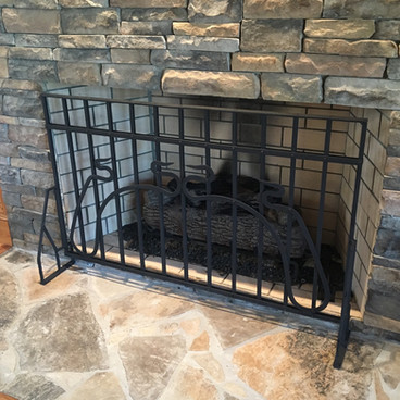 Cast Iron Fence Fireplace Screen