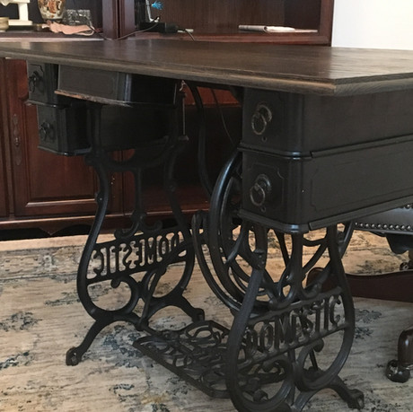 Antique Sewing Machine Desk