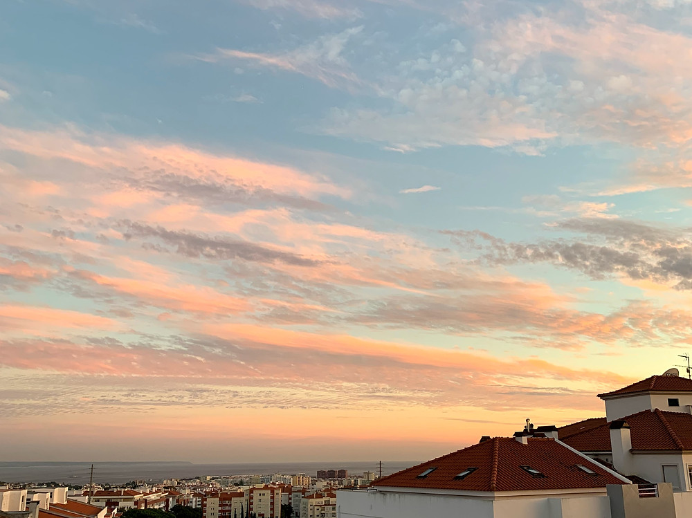 Céu de outono em Portugal