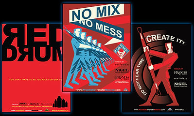 P.T.M / Red Drum magazine ad's