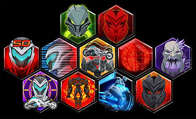 Max Steel game icons - Mattel