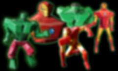 Marvel paper toys