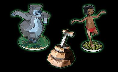 Jungle Book paper toys - Disney