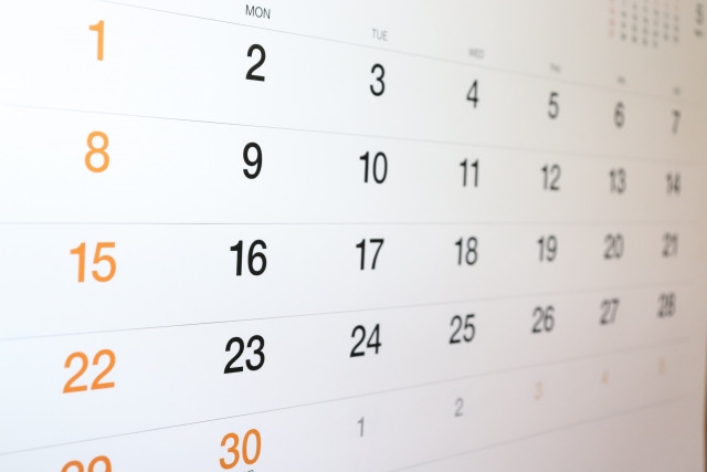 小児アトピーの患部の具合をカレンダーに付ける