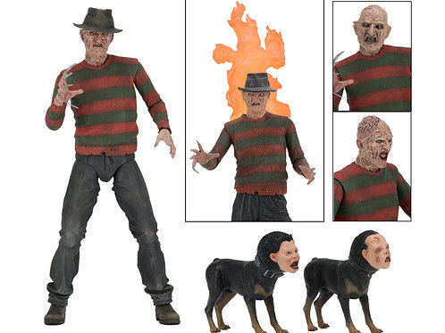 "Nightmare on Elm 7"" Scale Fig- Ultimate Part 2 Freddy"