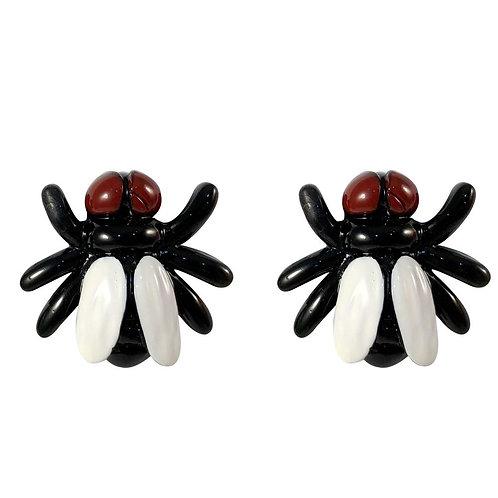 Kreepsville Fly Black Stud Earring