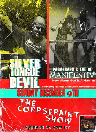 December 9th - Silver Tongue Devil and M