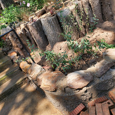 Fixing drainage and building a retaining wall