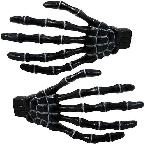 Kreepsville Skeleton Bone Hand Hairslides- Black
