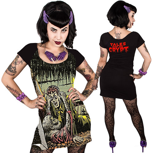 KREEPSVILLE 666 TALES FROM THE CRYPT GRAVEBUSTER DRESS )