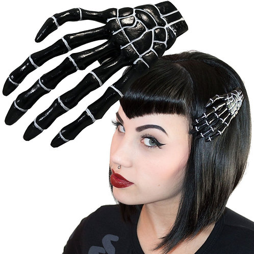 XL SKELETON BONE HAND SLIDE BLACK