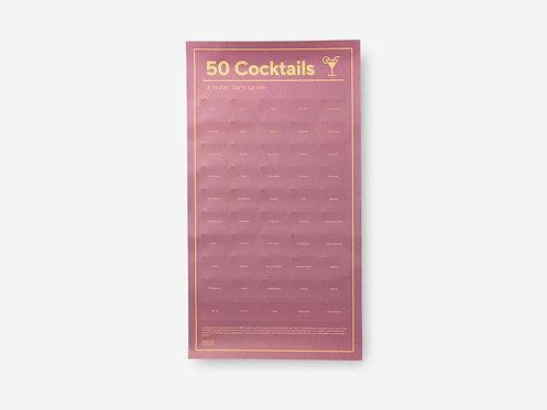Poster 50 coktails à tester