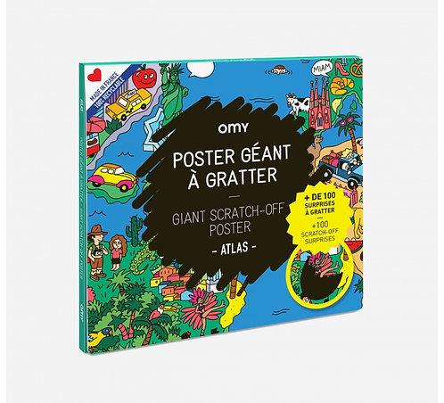 Poster géant à gratter / Atlas