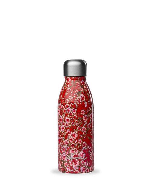 Bouteille 1 paroi - 500ml - fleurs rouges