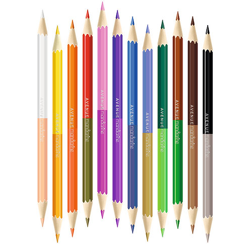 Crayons double pointe