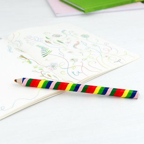 Crayon arc-en-ciel