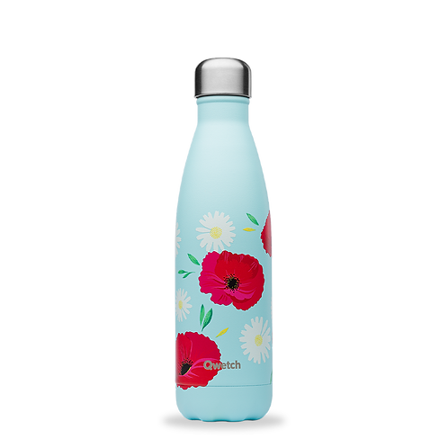 Bouteille isotherme - 500ml - coquelicots