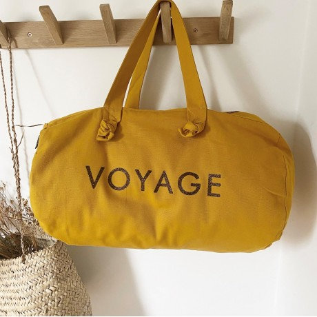 Sac polochon - voyage - moutarde